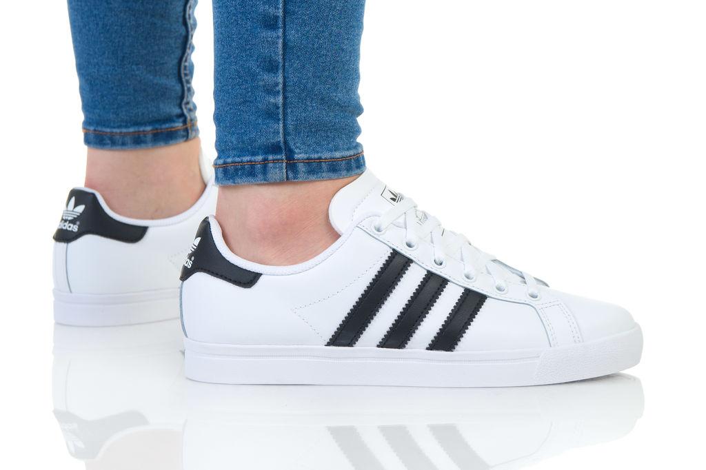 נעליים אדידס לנשים Adidas Coast Star - לבן/שחור