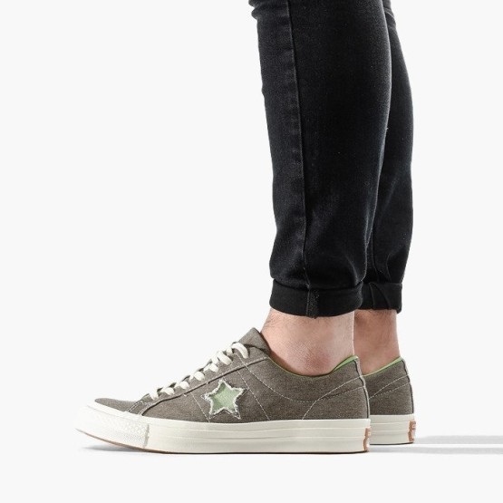 נעליים קונברס לגברים Converse Chuck Taylor One Star Sunbaked - אפור/ירוק