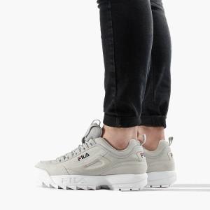נעליים פילה לגברים Fila Disruptor Low - אפור בהיר