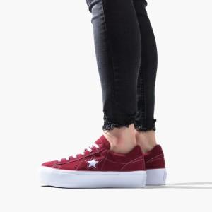 נעליים קונברס לנשים Converse Chuck Taylor One Star Platform - בורדו/אדום
