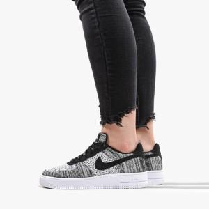 נעליים נייק לנשים Nike Air Force 1 Flyknit 2.0 GS - אפור