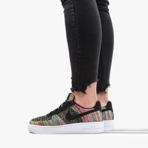 נעליים נייק לנשים Nike Air Force 1 Flyknit 2.0 GS - צבעוני/שחור