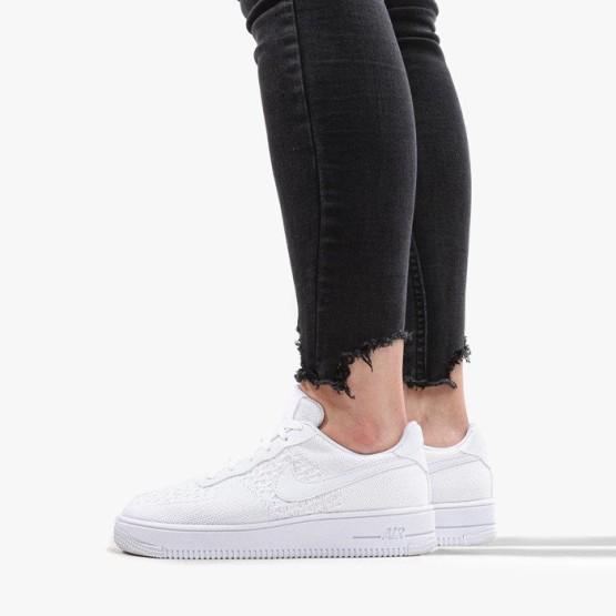 נעליים נייק לנשים Nike Air Force 1 Flyknit 2.0 GS - לבן
