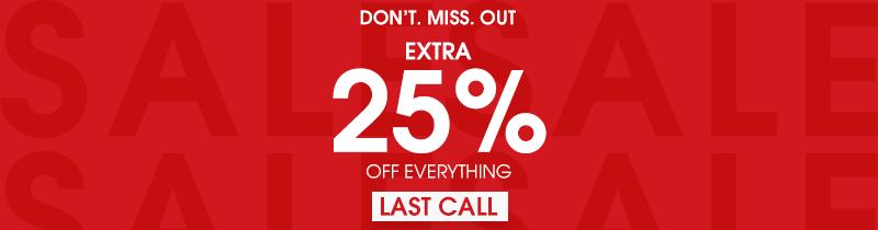 25% LAST CALL עמוד סינון