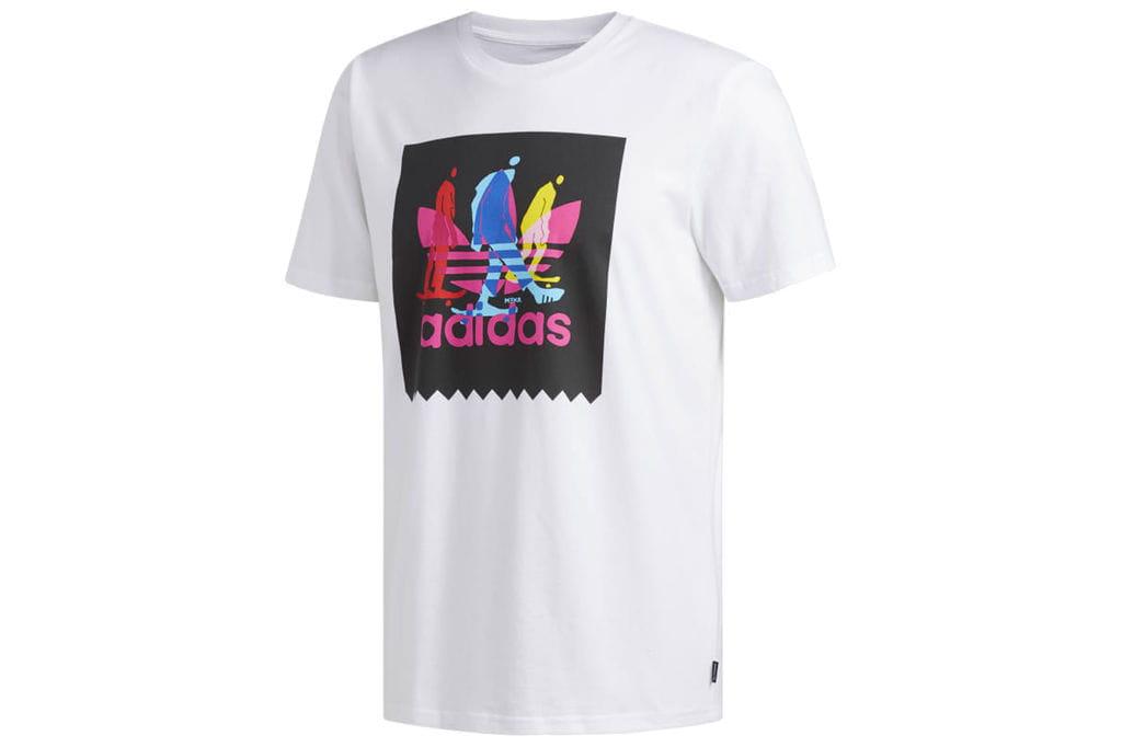 ביגוד אדידס לגברים Adidas CARUTHERS - לבן הדפס