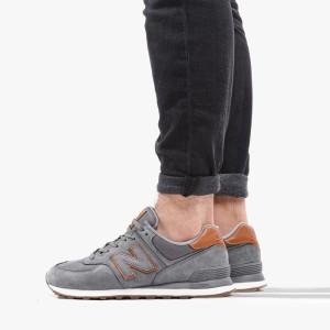 נעלי סניקרס ניו באלאנס לגברים New Balance ML574 - אפור/חום
