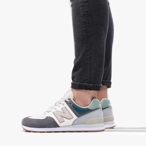 נעליים ניו באלאנס לגברים New Balance ML574 - לבן/ירוק