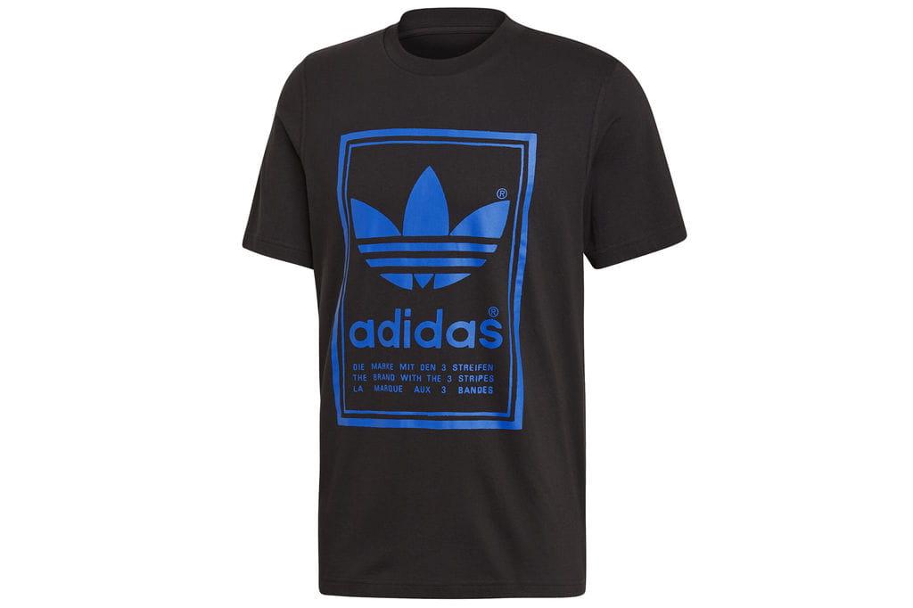 ביגוד אדידס לגברים Adidas VINTAGE TEE - שחור הדפס