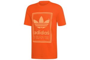 ביגוד אדידס לגברים Adidas VINTAGE TEE - כתום