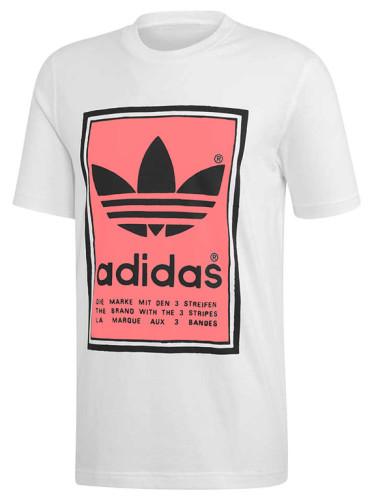 ביגוד אדידס לגברים Adidas FILLER - לבן