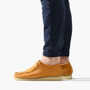 נעליים אלגנטיות קלארקס לגברים Clarks Originals Wallabee - צהוב