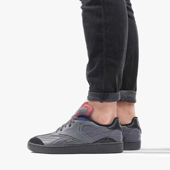נעלי סניקרס ריבוק לגברים Reebok Club C RC 1.0 - אפור כהה