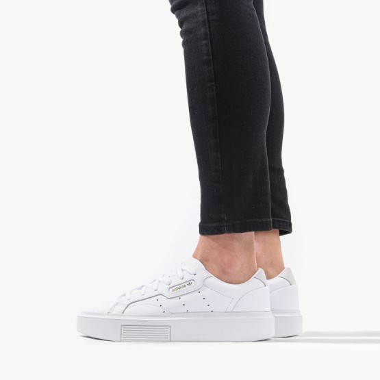נעלי סניקרס אדידס לנשים Adidas Originals Sleek Super - לבן