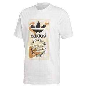 ביגוד Adidas Originals לגברים Adidas Originals  ORIGINALS Camo - לבן הדפס