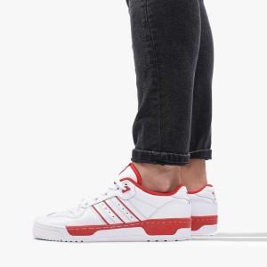 נעליים Adidas Originals לגברים Adidas Originals Rivalry Low - לבן/אדום
