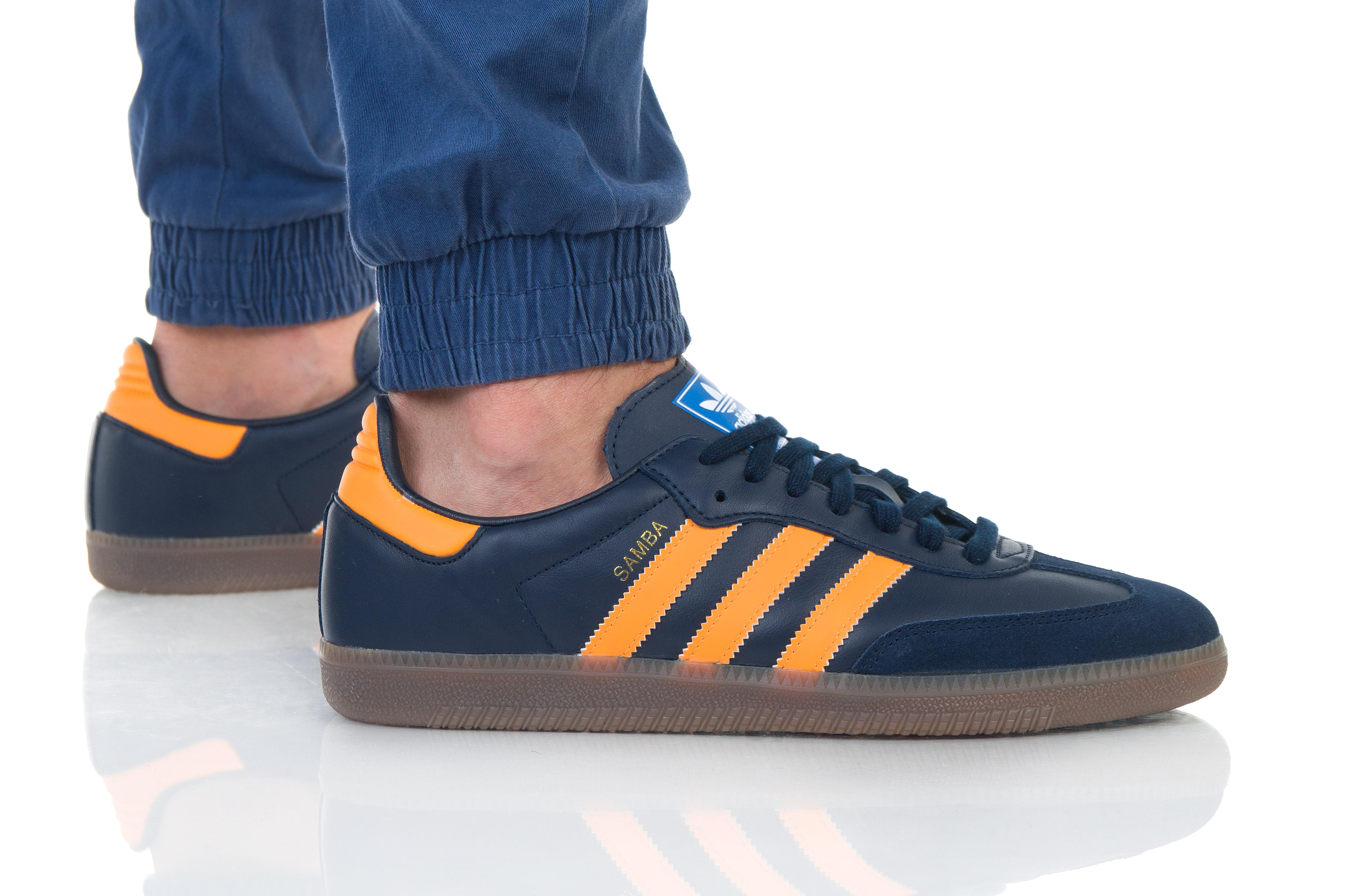 נעליים אדידס לגברים Adidas Samba OG - כתום/שחור