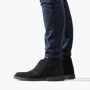 נעליים אלגנטיות קלארקס לגברים Clarks Originals Desert Boot - שחור