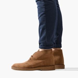 נעליים אלגנטיות קלארקס לגברים Clarks Originals Desert Boot - חום