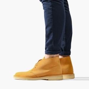 נעליים אלגנטיות קלארקס לגברים Clarks Originals Desert Boot - צהוב