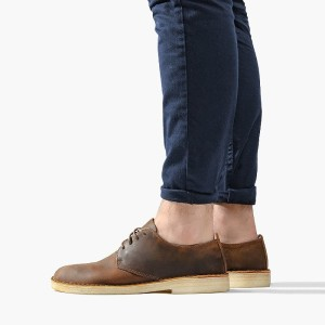 נעליים אלגנטיות קלארקס לגברים Clarks Originals Desert London - חום כהה
