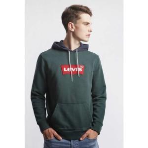 בגדי חורף ליוויס לגברים Levi's MODERN HM HOODIE - ירוק