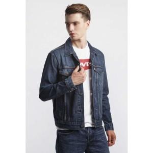 בגדי חורף ליוויס לגברים Levi's TRUCKER JACKET - ג'ינס כהה
