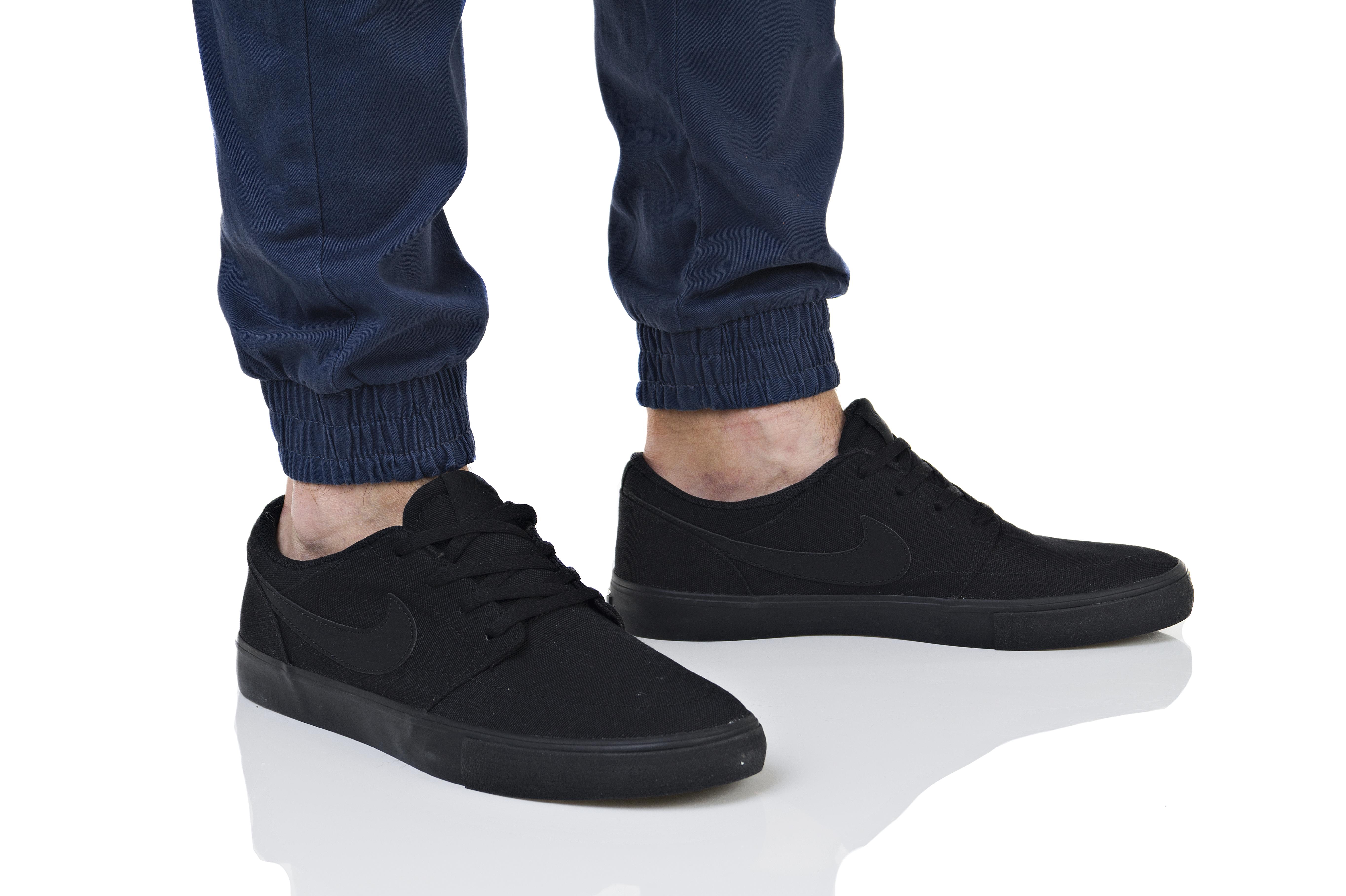 נעליים נייק לגברים Nike SB PORTMORE II SOLAR CNVS - שחור