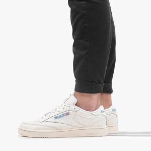 נעלי סניקרס ריבוק לגברים Reebok Club C 85 MU - לבן/ כחול