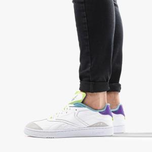 נעלי סניקרס ריבוק לגברים Reebok Club C RC 1.0 - לבן/סגול
