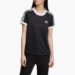 ביגוד אדידס לנשים Adidas Originals 3-Stripes Tee - שחור