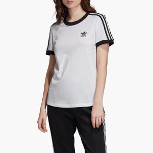 ביגוד אדידס לנשים Adidas Originals 3-Stripes Tee - לבן