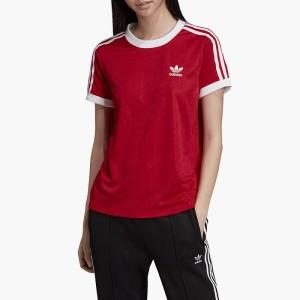 ביגוד אדידס לנשים Adidas Originals 3-Stripes Tee - אדום