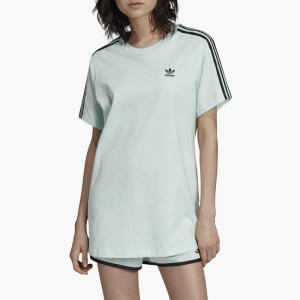 ביגוד Adidas Originals לנשים Adidas Originals  Oversized Tee - ירוק