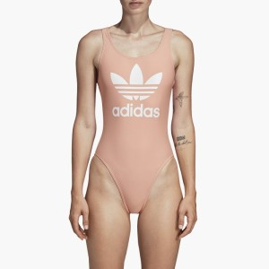 בגדי ים Adidas Originals לנשים Adidas Originals Trefoil Swimsuit - ורוד