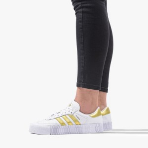נעליים Adidas Originals לנשים Adidas Originals Sambarose - לבן/צהוב
