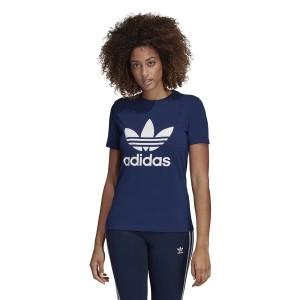 ביגוד Adidas Originals לנשים Adidas Originals T-Shirt  Originals Trefoil - כחול