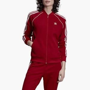 בגדי חורף Adidas Originals לנשים Adidas Originals Track Jacket - אדום יין