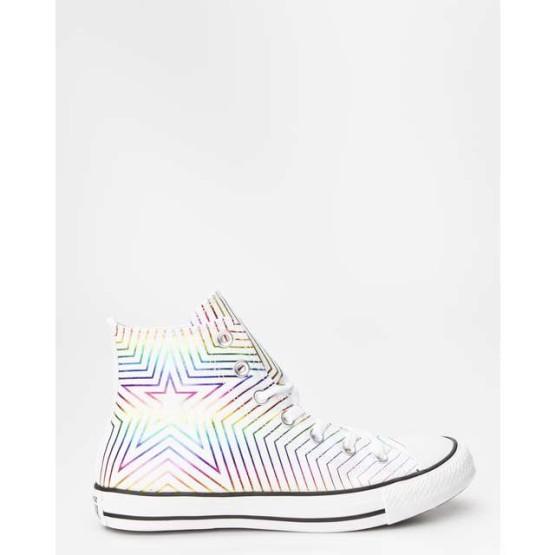 נעלי סניקרס קונברס לנשים Converse CHUCK TAYLOR ALL STAR HI 396 - לבן