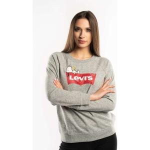 ביגוד ליוויס לנשים Levi's PEANUTS GRAPHIC CREWNECK SWEATSHIRT - אפור