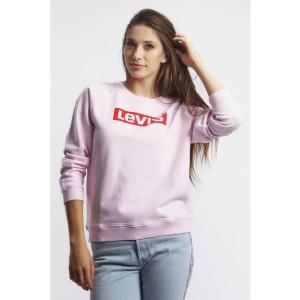 בגדי חורף ליוויס לנשים Levi's RELAXED GRAPHIC CREW - ורוד בהיר