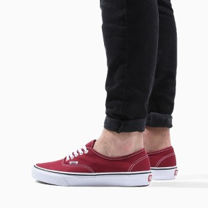 נעליים ואנס לגברים Vans Authentic - אדום כהה