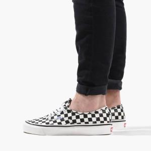 נעלי סניקרס ואנס לגברים Vans Authentic - שחור הדפס