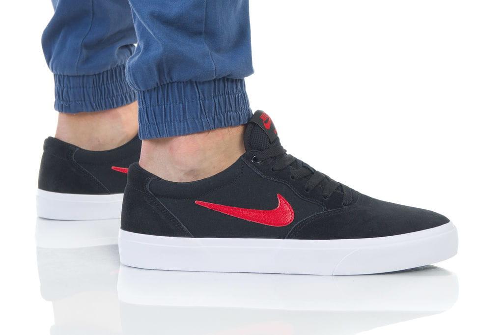 נעליים נייק לגברים Nike SB CHRON SLR - שחור/אדום