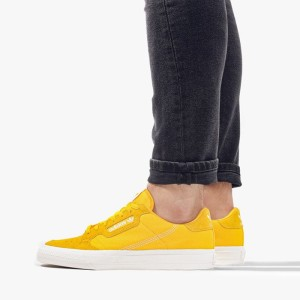 נעליים Adidas Originals לגברים Adidas Originals Originals Continental Vulc - צהוב
