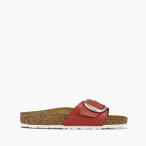 כפכפים בירקנשטוק לנשים Birkenstock Madrid big buckle - אדום
