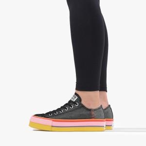 נעליים קונברס לנשים Converse Chuck Taylor All Star Lift OX - שחור/ורוד