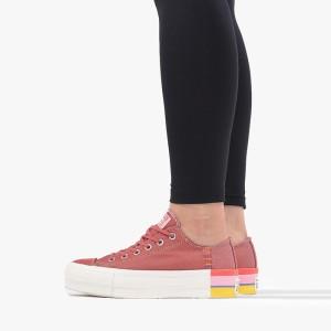 נעליים קונברס לנשים Converse Chuck Taylor All Star Lift OX - ורוד/לבן