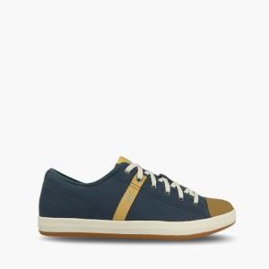 נעליים אלגנטיות קטרפילר לגברים Caterpillar Checklist Canvas - כחול כהה