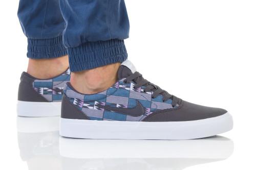 נעליים נייק לגברים Nike SB CHARGE SLR CNVS PRM - אפור/סגול