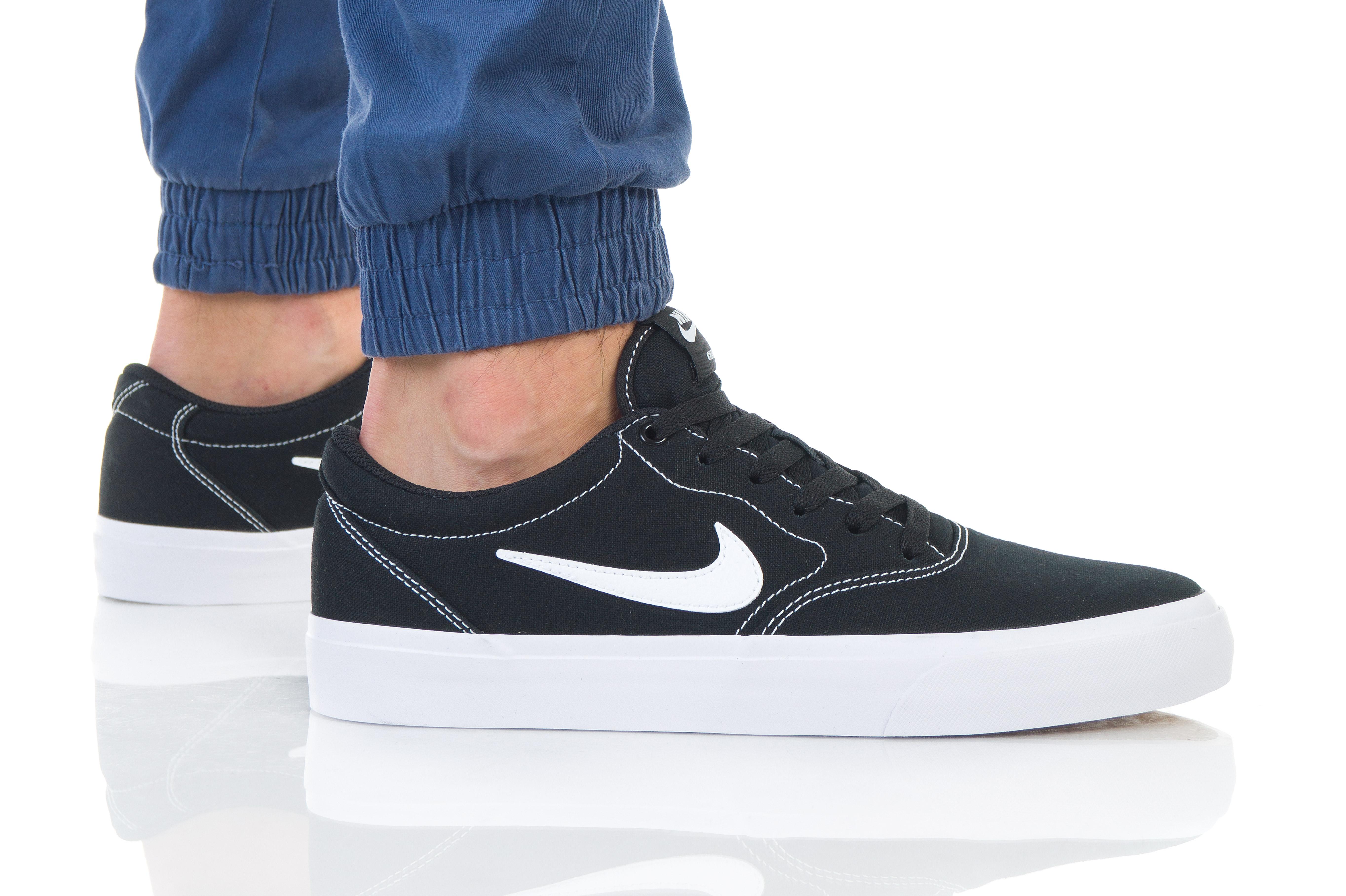 נעליים נייק לגברים Nike SB CHARGE SLR - שחור/לבן
